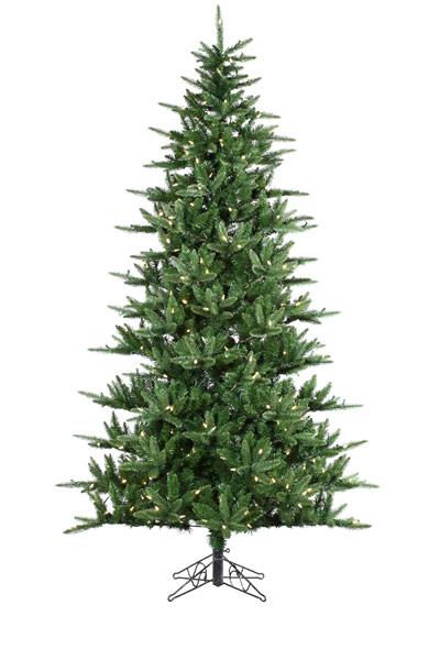 9' CHARLESTON PINE ONE PLUG WITH CLEAR LIGHTS